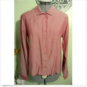 CHRISTOPHER & BANKS Button Shirt S Rose Pink blous